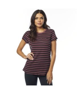 T-SHIRT FOX LADY STRIPED OUT ROSE