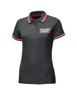 T-SHIRT HELD LADY POLO BIKERS BLACK/RED